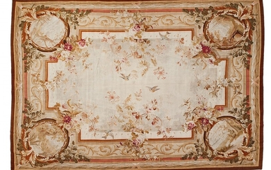 An Aubusson tapestry with an illusionist motif