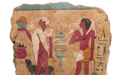An Egyptian-style tomb painting, 20th Century