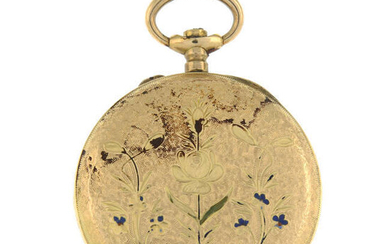 An early 20th century 14ct gold pocket watch. AF.