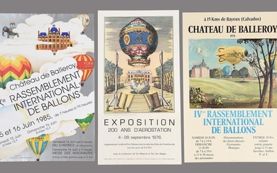 Ballooning Posters a group of three French posters. 1976-1985