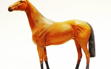 Beswick 'Connoisseur' 'Red Rum' horse figure with plaque: 'Red...