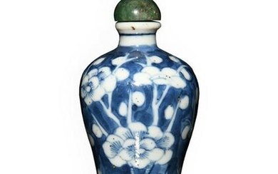 Chinese Blue and White Meiping Snuff Bottle