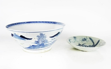 Chinese Punch Bowl & Fish Plate