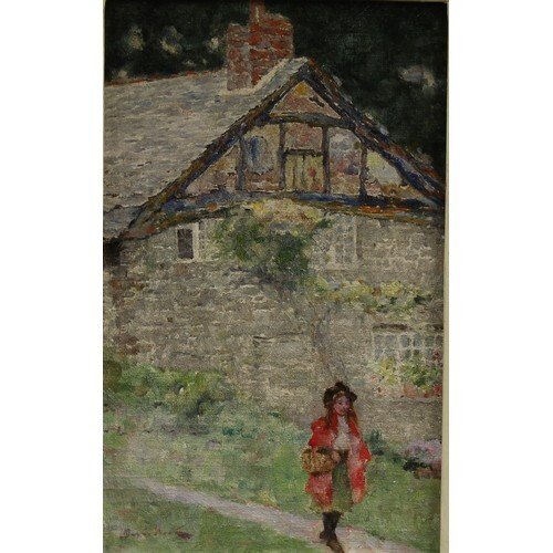 David Woodlock (1842-1929) Yew Tree Cottage signed, titled a...