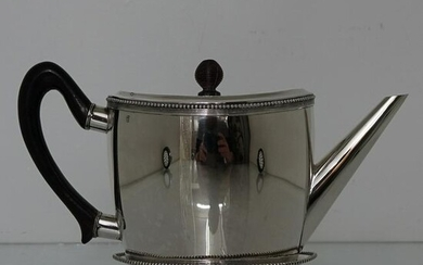 Early 19th Century Antique Silver Teapot on Stand