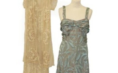 Early 20th Century Costume, comprising a lace dress with short...