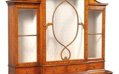 George III Style Mahogany, Satinwood and Marquetry