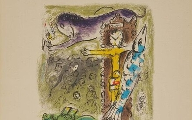 MARC CHAGALL, (French, 1887-1985), Le Christ à