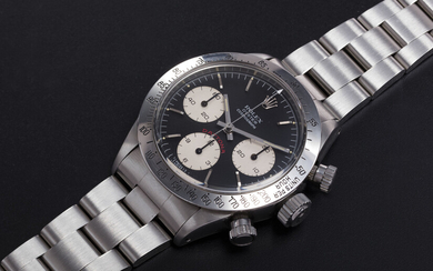 "ROLEX. A STAINLESS STEEL DAYTONA CHRONOGRAPH WRISTWATCH ""BIG RED"", REF. 6265"