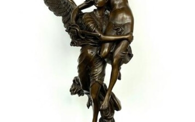 Sign. Bronze Gloria victim signed sculpture with marble