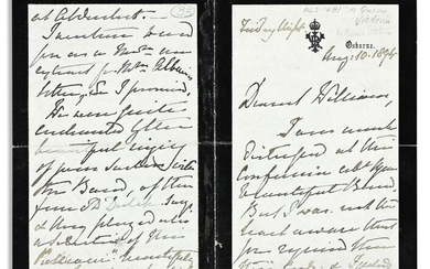 VICTORIA; QUEEN OF THE UK. Autograph Letter Signed