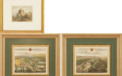 2 Johannes Kip Architectural Engravings of English