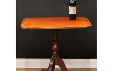 A Regency rosewood crossbanded mahogany wine table, rounded ...