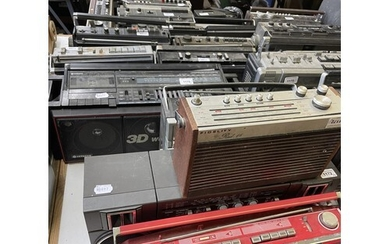 A Sony TR-1300 portable radio, and various other audio equip...
