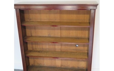 A Victorian mahogany open bookcase with three adjustable she...