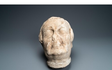 A large marble head of a prelate, Italy, 17th C.Dim.: ca. 37...