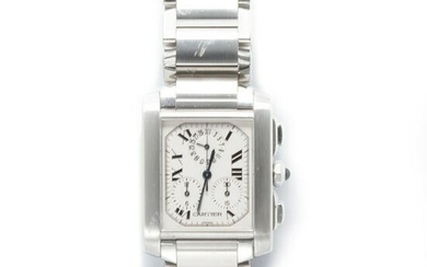 A stainless steel wristwatch, Tank Francaise