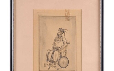 An early 20th-century Indian school watercolour sketch depic...