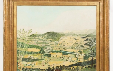 Anna Mary Robertson 'Grandma' Moses (1860-1961), Cambridge Valley, Oil on Pressed Wood, 1942 FD6A