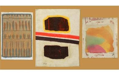 Artists Unknown (American, 20th Century) Three Abstract