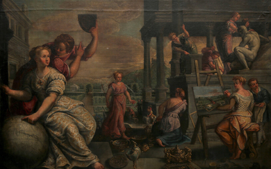 CIRCLE OR WORKSHOP OF FRANCK PAUWELS, CIRCA 1590. Allegory of the Arts.