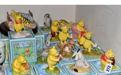FIFTEEN BOXED ROYAL DOULTON WINNIE THE POOH COLLECTION FIGUR...