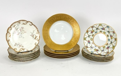 GROUPING OF PORCELAIN PLATES INCL. LIMOGES