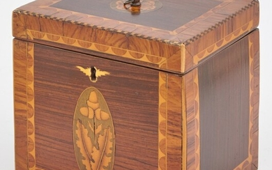 George III Marquetry Inlaid Tea Caddy