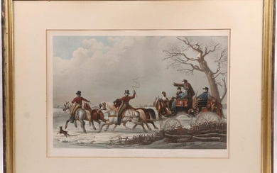 Goupe & Vibert Lithograph, Hunting Subject