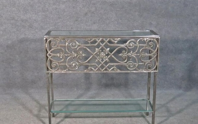 IRON & GLASS TWO TIER CONSOLE