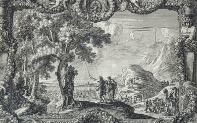 Jean Le Pautre (French, 1618-1682) - The Egyptians Drowned in the Red Sea, Etching, Circa 1650.