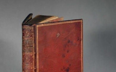 LÉPICIÉ (François-Bernard), ed. Lives of the first painters of the King, from M. Le Brun to the present. In Paris, by Durand, Pissot fils, 1752. Two volumes in 1 vol. in-8, LXXX-178 p., [3] f., 243 p., [3] f. (approb., errata), contemporary red...