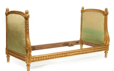 Louis XVI-Style Carved Giltwood Daybed