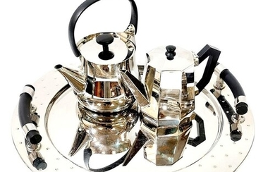 Michael Graves for Alessi - A large chrome mirrored finish c...