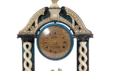 Ornate 19th century Grand Tour pocket watch display stand by Dreyfours L. Humbert Paris France with Gold Pocket Watch