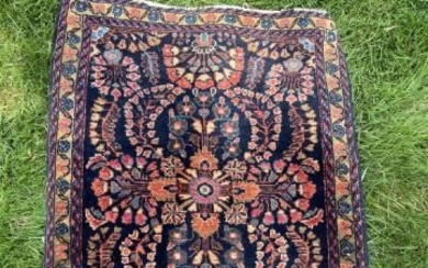 Persian Hand Knotted Floral Wool Prayer Carpet