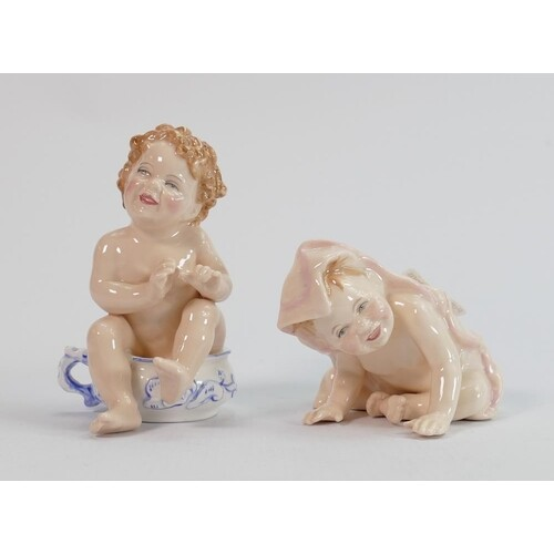 Royal Doulton baby figures: Well Done HN3362 and Peek-a boo ...