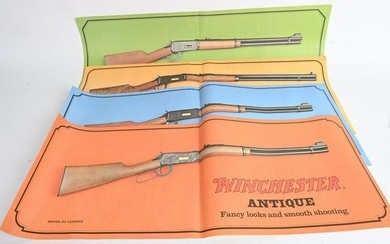 SET (4) NOS 1969 WINCHESTER 1894 COLOR POSTER