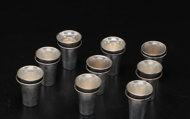 Sterling Silver Shot Cups, 20th Century