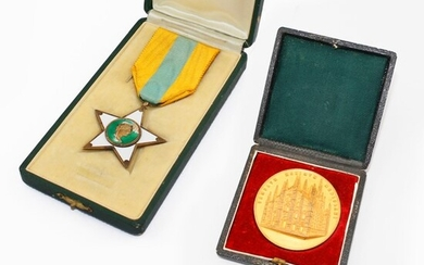 TWO METAL MEDALS