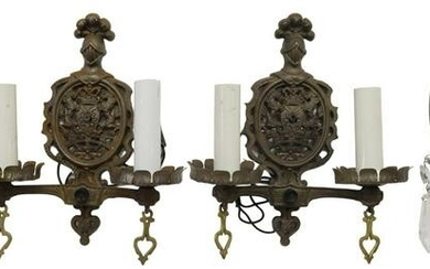 (6) METAL WALL SCONCES