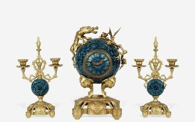 A Chinese Style Enameled Porcelain and Gilt-Bronze
