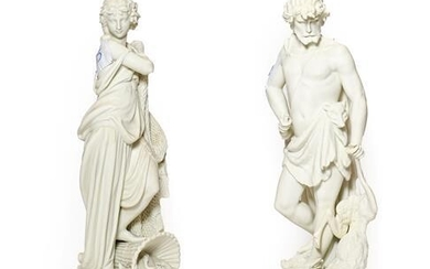 A Pair of Parian Figures of LE CHASSE and LA...