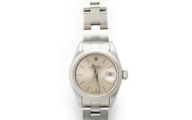 A stainless steel wristwatch, Oyster Perpetual Date