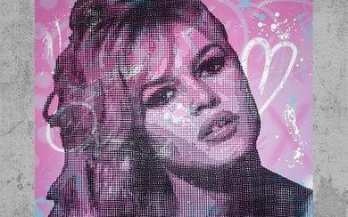 AIIROH x COLLELL - Brigitte Bardot (Exceptional barbed wires wall sculpture)