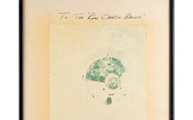 Apollo 10 Signed Photograph Presented to Charles Schulz