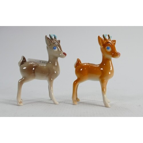 Beswick Reindeers: one fawn and one grey (2)