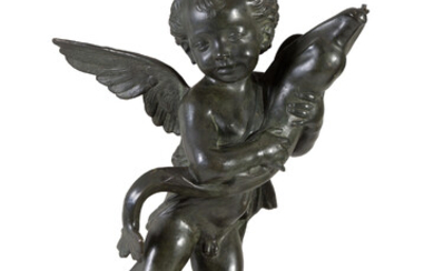 Bronze fountain sculpture 'PUTTO'. Early 20th c