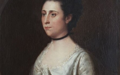 """Early 19th C. """"Portrait of Hannah, Wife of George"""