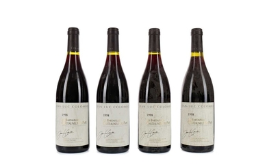 FOUR BOTTLES OF JEAN-LUC COLOMBO 1998 CHATEAUNEUF DU PAPE